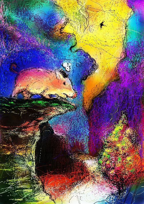 虹の谷と豚とねずみ